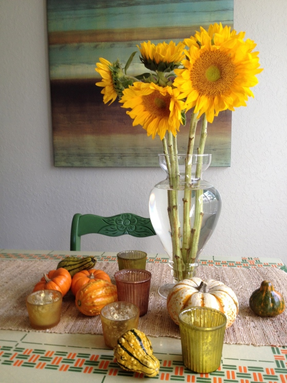 Sunflowers and Gourds
