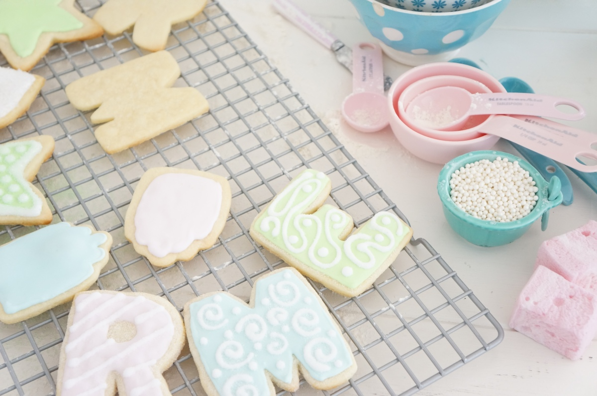 Letters Gift Tags and Star Sugar Cookies