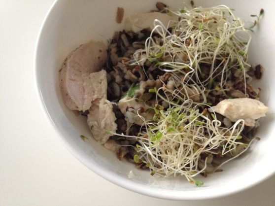 sprouts as a garnish